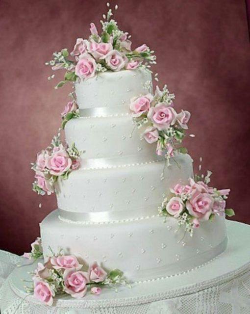 bolo fake com flores 4