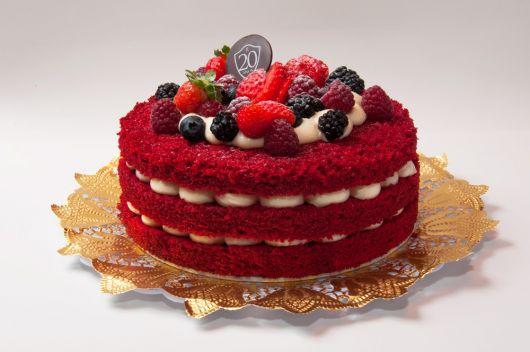 bolo pelado red velvet