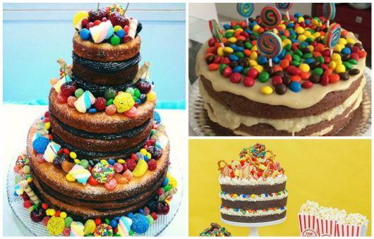 bolo decorado doces