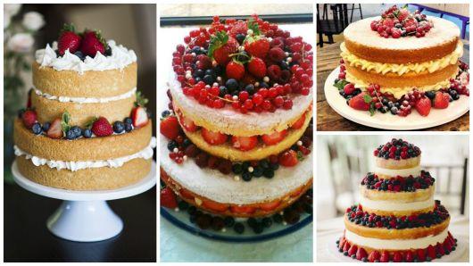 ideias bolo de frutas vermelhas