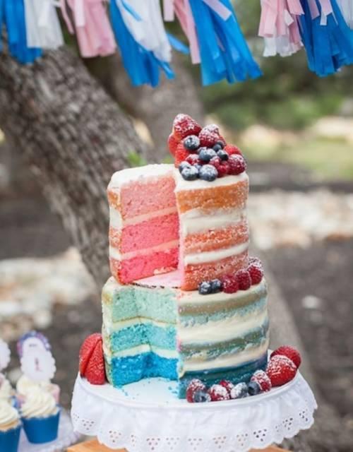 bolo camadas colorido