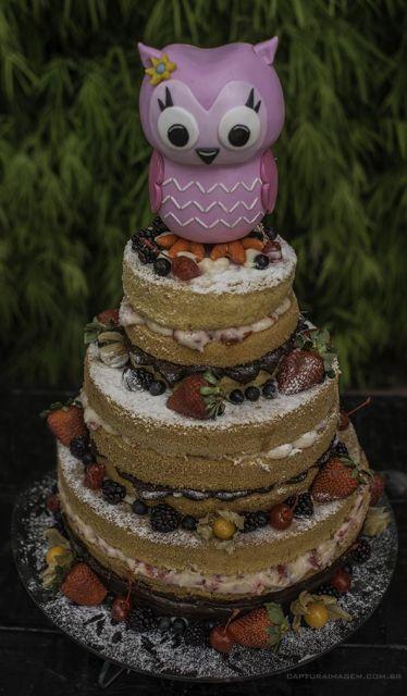 A corujinha foi usada como topo de bolo