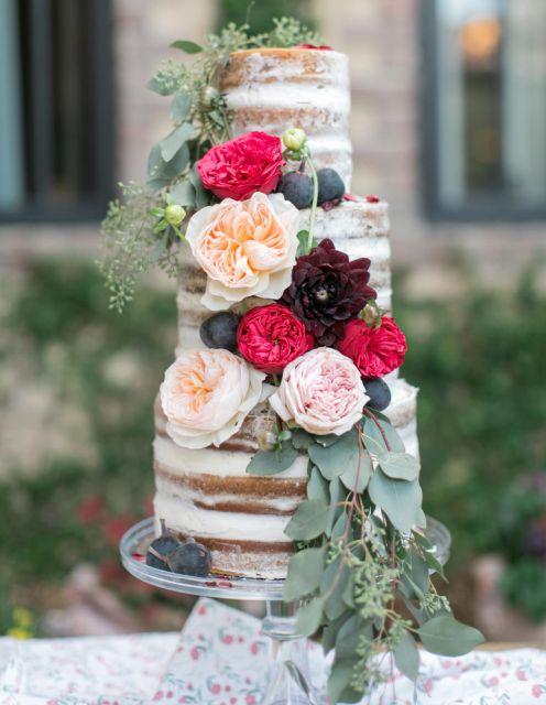 naked cake com flores 1
