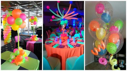 8dfa8d7db45 O centro de mesa de bexiga é uma das ideias para decorar a festa