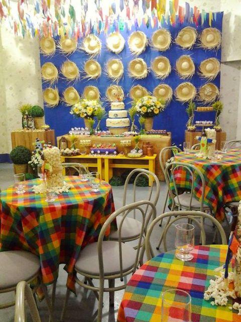 Mesa de festa junina dicas incríveis de como decorar! -> Decoração De Mesa Xadrez