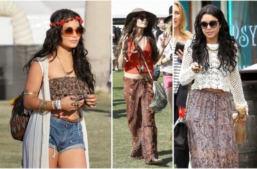 Coroa de flores e chapéus com abas largas fazem parte do hippie chic