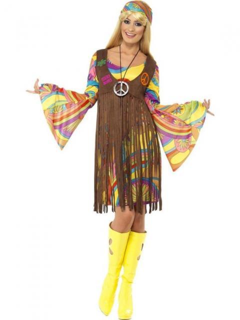 Vestido com manga larga faz parte do look hippie
