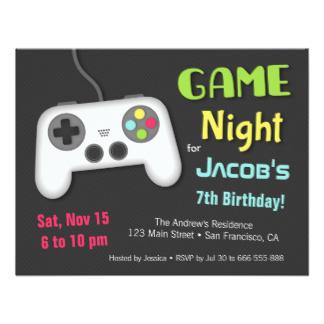 convite para festa geek