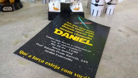 convite festa geek star wars