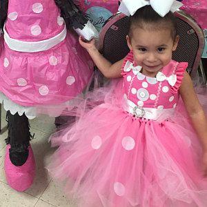 fantasia da Minnie infantil em rosa