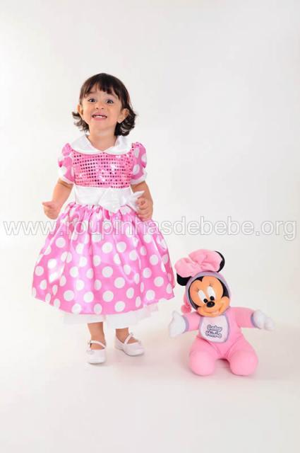 fantasia da Minnie infantil rosa