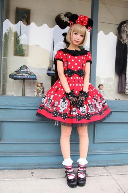 fantasia da Minnie adulta vestido na altura do joelho