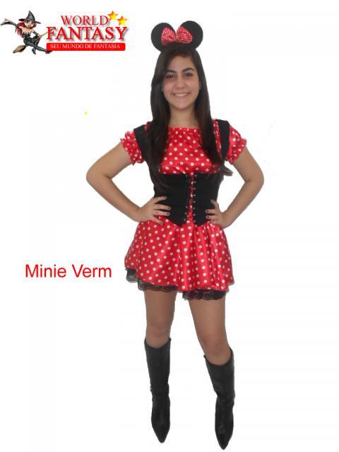 fantasia da Minnie adulta com corpete e bota de cano alto