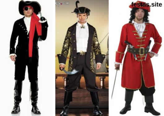 seleção de fotos de fantasia de pirata masculinas