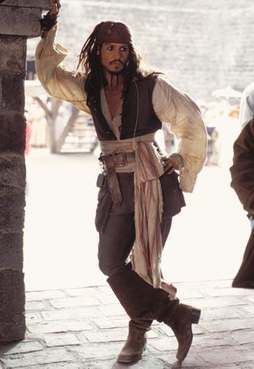 fantasia de pirata do Jack Sparrow