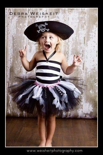 fantasia de pirata de menina com tutu