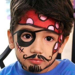 maquiagem de pirata em menino