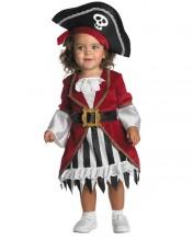 fantasia de pirata de menina com vestido
