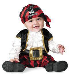 fantasia de pirata para bebê com calça e blusa de babados