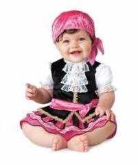 fantasia de pirata rosa para bebê