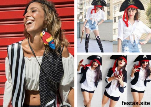 seleção de fotos de fantasia de pirata improvisada femininas