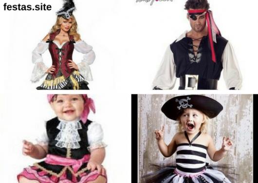 seleção de fotos de fantasia de piratas para todas as idades