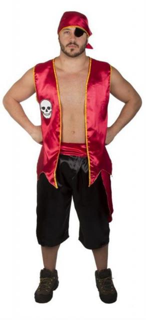 fantasia de pirata masculina de colete e calça