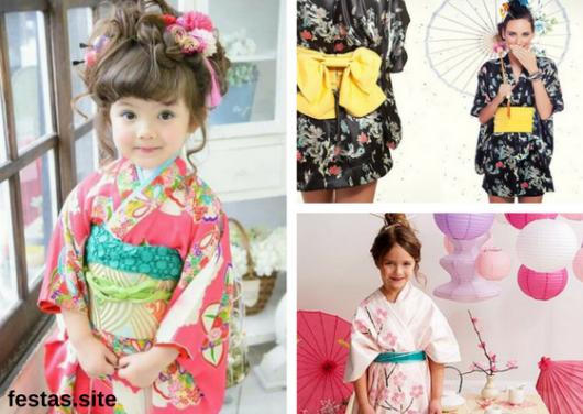seleção de fotos de kimono