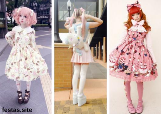 seleção de fotos de meninas vestidas com roupas de animes
