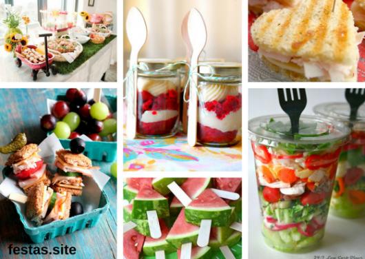 comidas que podem ser servidas em festa piquenique