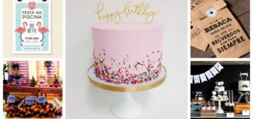 Montagem com dicas de decoração para festa de 20 anos.