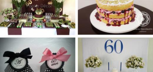 seleção de fotos de festa de 60 anos
