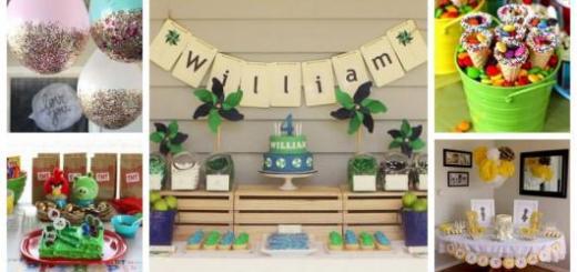 Montagem de fotos com itens simples para decorar a mesa.