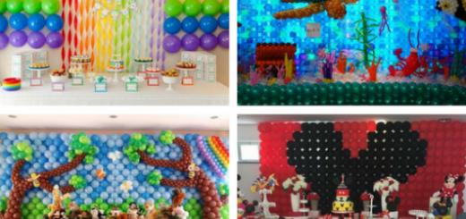 seleção de fotos de parede de balões