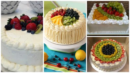 ideias de bolo de frutas