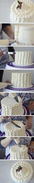passo a passo decoração de bolo simples