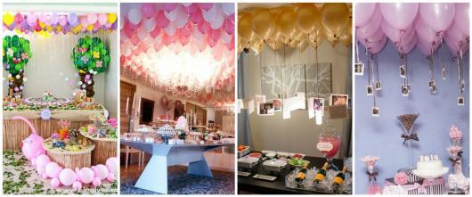 balões no teto