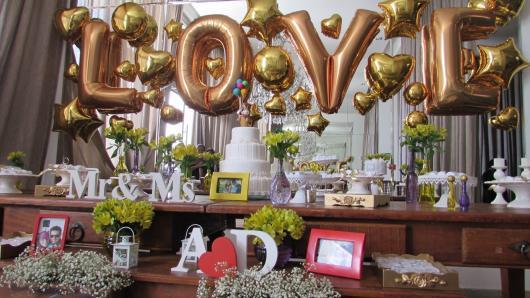 decoração noivado