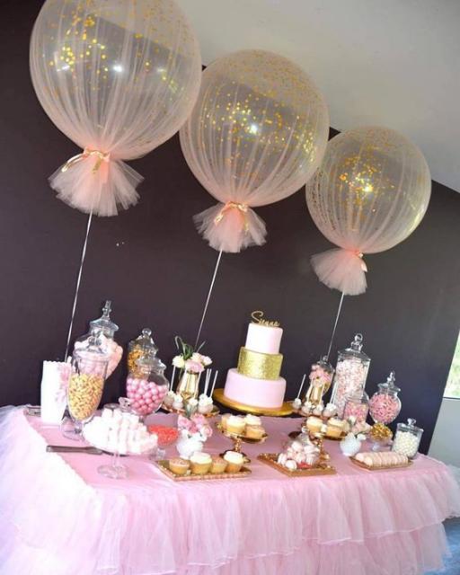decoração com balões grandes