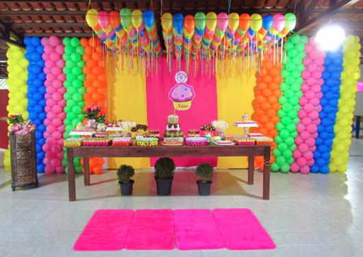 festa infantil colorida