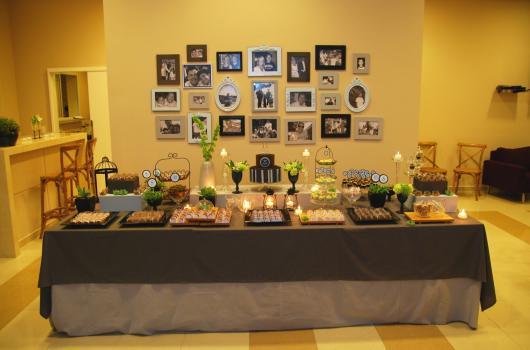 festa decorada com fotos
