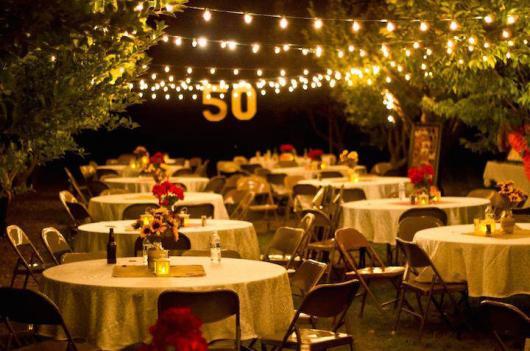 Festa de 50 anos ideias para comemorar o anivers rio em - Ideas para celebrar 50 cumpleanos ...