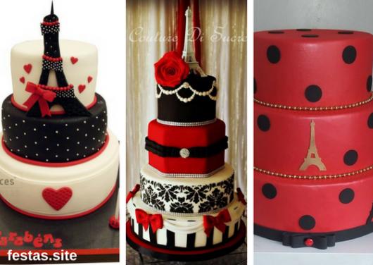 bolos Paris em vermelho
