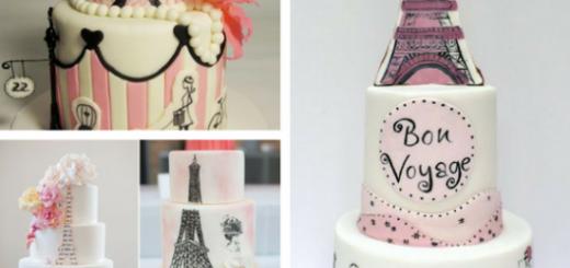 bolos paris com desenhos feitos a mão