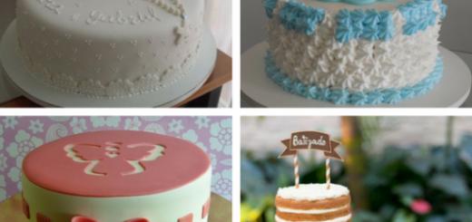 bolos de batismo simples