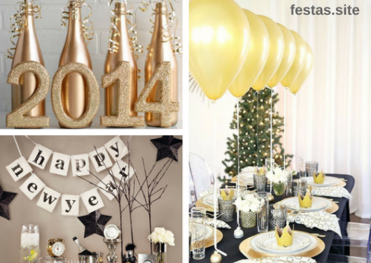 decoração ano novo simples e barata
