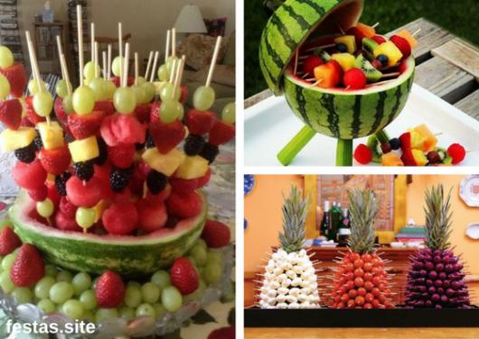 arranjos de frutas como decoração de ano novo simples e barata