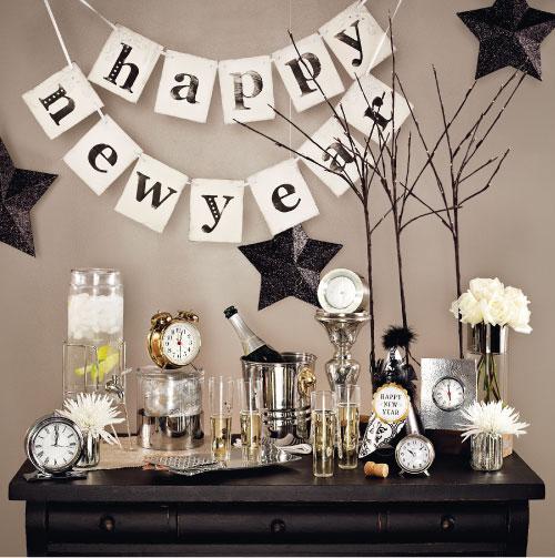 mensagem de feliz ano novo sobre mesa