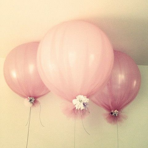 balão com tule