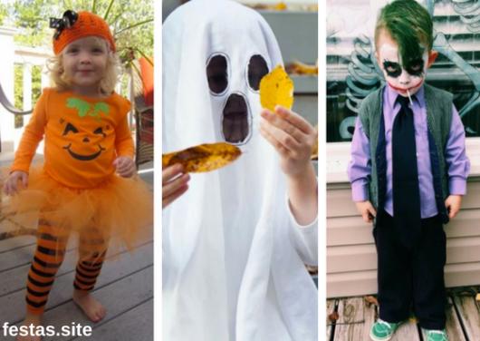 fantasias de Halloween infantil improvisada